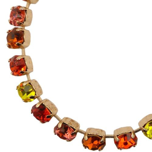 Mariana Handmade Swarovski Crystal Rose Gold Bracelet 4252 10310 Siam Red Yellow - ILoveThatGift