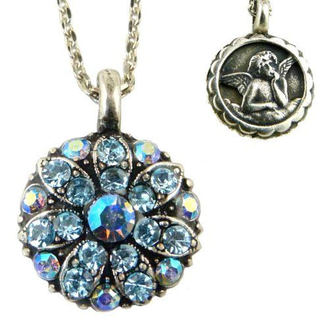 Mariana Guardian Angel Crystal Pendant Necklace 202 Crystal Metallic Blue - ILoveThatGift
