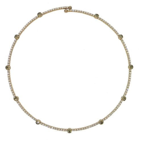 One Row Crystal Encrusted Choker Collar Necklace Silver Gold made fr Swarovski - ILoveThatGift