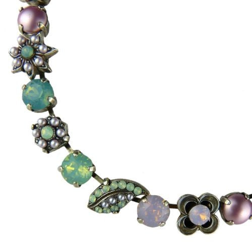Mariana Handmade Swarovski Leaf 3076 Necklace 1342 Pacific Opal Mint Rose Water - ILoveThatGift