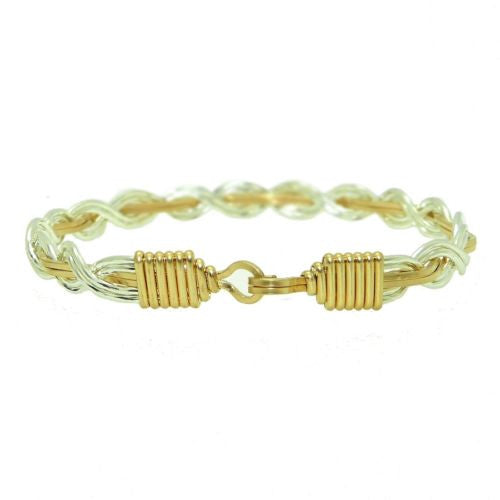 Ronaldo Let It Shine 790 Bracelet 14K Gold & Silver Artist Wire Up Down - ILoveThatGift