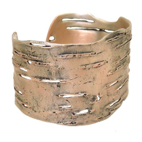 Birch Bark Cuff Bracelet Silver Plated Bronze by Michael Michaud - ILoveThatGift