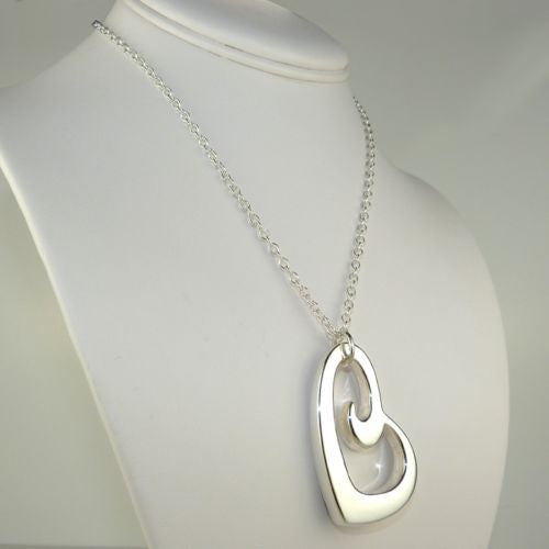 "Simon Sebbag Sterling Silver Heart Pendant Necklace on 18"" SS Chain - ILoveThatGift"