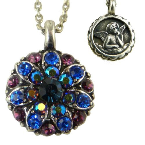 Mariana Guardian Angel Crystal Pendant Necklace 3101 Blue Amethyst - ILoveThatGift