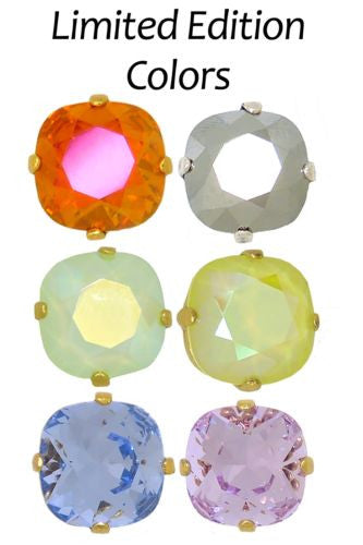 La Vie Parisienne Popesco Swarovski Gold Stud Earrings Astral Pink 6556PG LIMITED EDITION - ILoveThatGift