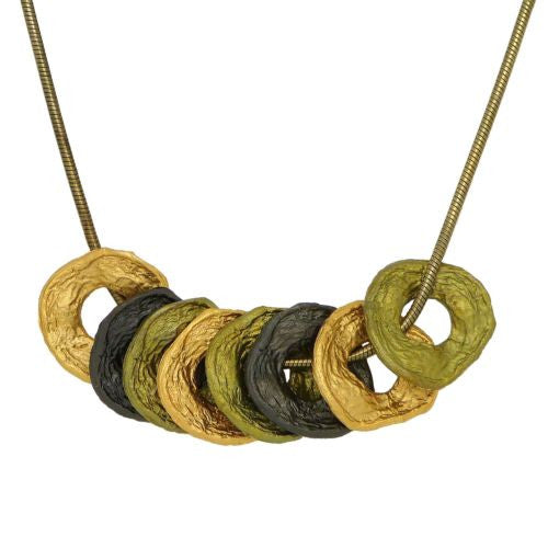 "Curly Pod 16"" Adjustable Tri Color Necklace by Michael Michaud - ILoveThatGift"