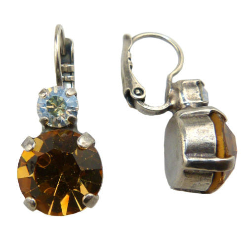 Mariana Handmade Swarovski Crystal Large Round Earrings 1037 3911 Clear Topaz - ILoveThatGift