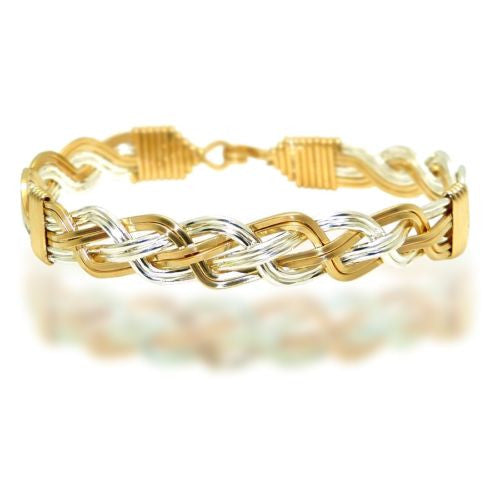 Ronaldo The Woven Together 739 Bracelet 14K Gold & Silver Artist Wire - ILoveThatGift