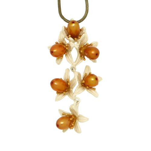 "Orange Blossom 16"" Adjustable Shower Pendant Necklace by Michael Michaud - ILoveThatGift"