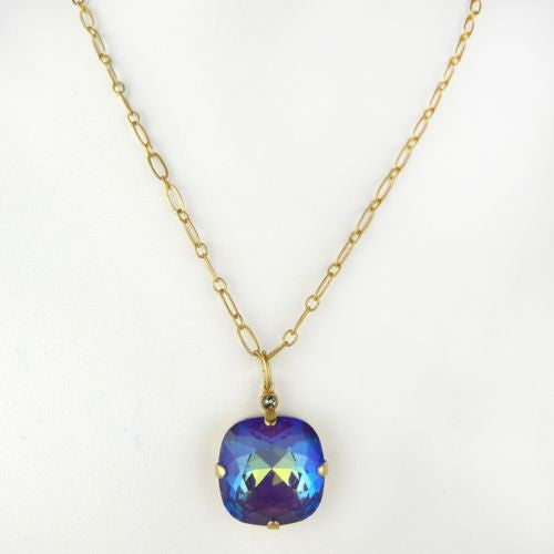 La Vie Parisienne Gold Crystal Necklace Mermaid Purple Blue Ruby1472G Popesco - ILoveThatGift