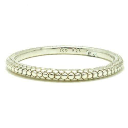 Simon Sebbag Sterling Silver 925 Textured Pebble Bangle Bracelet B1347 - ILoveThatGift