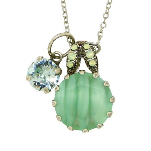 Mariana Swarovski Gemstone Dangle Drop Necklace 5133/2 1065 Mojito Iced Green Az - ILoveThatGift