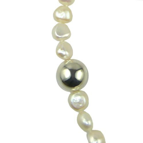 Simon Sebbag Sterling Silver White Pearl Beads Toggle Clasp Necklace 24 inches - ILoveThatGift