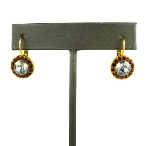 Mariana Handmade Swarovski Crystal Gold Earrings 1129 1016 Topaz Indian Sapphire - ILoveThatGift