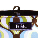 Posh by Tori Groove Contemporary Diaper Bag NWT Blue Green Brown White - ILoveThatGift