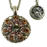 Mariana Guardian Angel Crystal Pendant Necklace 3191 Hematite Topaz - ILoveThatGift