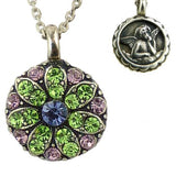 Mariana Guardian Angel Crystal Pendant Necklace 88 Purple Green Pink - ILoveThatGift