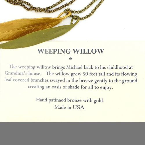 Weeping Willow Double Leaf Pendant Necklace by Michael Michaud 8945 - ILoveThatGift