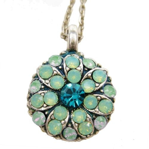 Mariana Guardian Angel Crystal Pendant Necklace 390-1 Opal Blue Zircon - ILoveThatGift