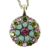 Mariana Guardian Angel Crystal Pendant Necklace 806 Fuschia Pink Opal - ILoveThatGift