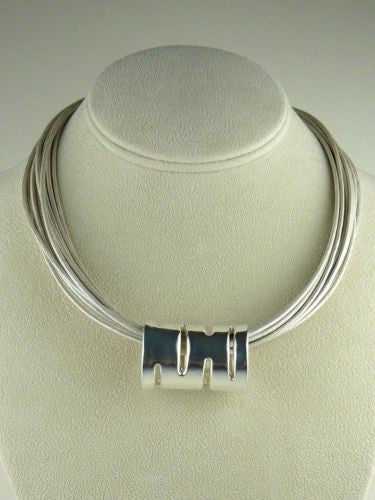 Simon Sebbag Sterling Silver Smooth Tube Slide Bead 54 for Leather Necklace - ILoveThatGift