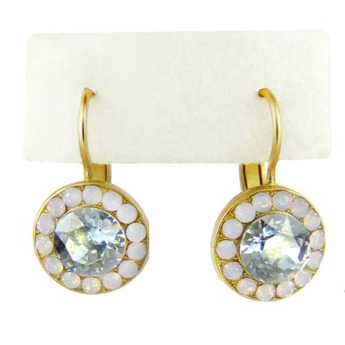 Mariana Handmade Swarovski Crystal Earrings 1129 1028 Rosewater Opal Azore Blue - ILoveThatGift