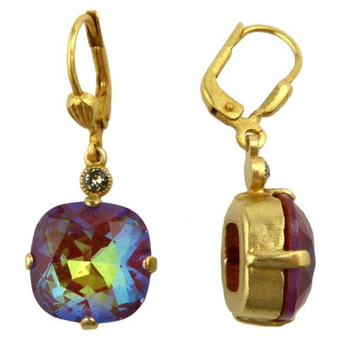 La Vie Parisienne Earrings Swarovski Crystal Popesco 6556G Blue Ruby - ILoveThatGift