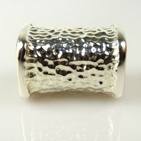Simon Sebbag Hammered Squared Sterling Silver Slide Bead 209 for Leather Necklac - ILoveThatGift