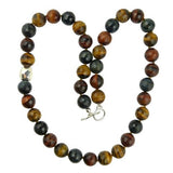 Simon Sebbag Sterling Silver Faceted Mixed Tigers Eye Beads Necklace 24 inches - ILoveThatGift