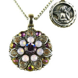 Mariana Guardian Angel Crystal Pendant Necklace 5212 1022 Violet Opal Gray Rose - ILoveThatGift