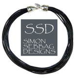 "Simon Sebbag Leather Necklace Black Longer 18"" Add Sterling Silver Slide - ILoveThatGift"