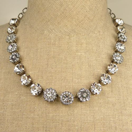Mariana Handmade Swarovski Crystal Silver Necklace 3084 001001 All Clear Crystal - ILoveThatGift