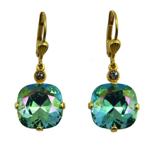 La Vie Parisienne Earrings Swarovski Crystal Popesco 6556G Ocean Green - ILoveThatGift