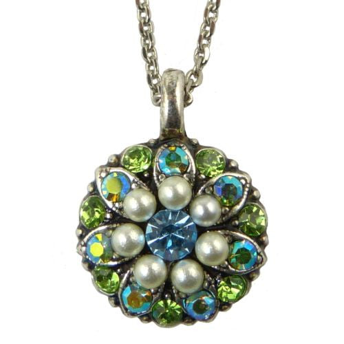 Mariana Guardian Angel Crystal Pendant Necklace 84 Blue Pearl Crystal - ILoveThatGift