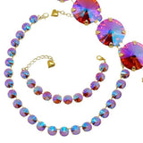 Pacific Flamingo Gold Necklace Bracelet SET Made of Swarovski Crystals - ILoveThatGift