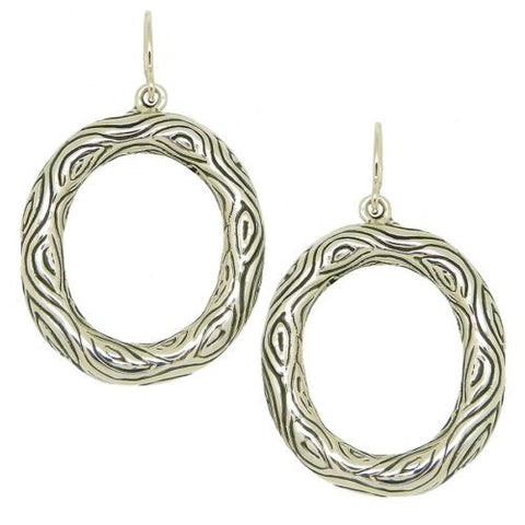 Simon Sebbag Open Bali Wire 925 Sterling Silver 2340 Oval Earrings - ILoveThatGift