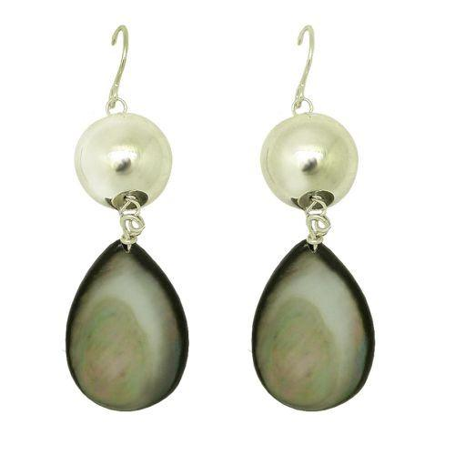 Simon Sebbag Sterling Silver Round Ball Drop Mother of Pearl Earrings  E201BMOP - ILoveThatGift