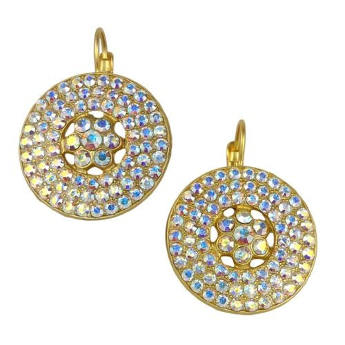 Mariana Handmade Swarovski Crystal Earrings Roundel Design Seaside 1078/1 001AB - ILoveThatGift