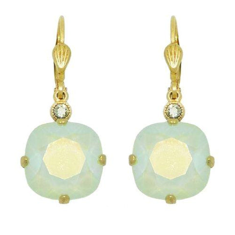 La Vie Parisienne Earrings Swarovski Crystal Popesco Mint Green 6556G LIMITED ED - ILoveThatGift