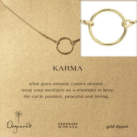 Dogeared Original Gold Dipped Karma Necklace 16""