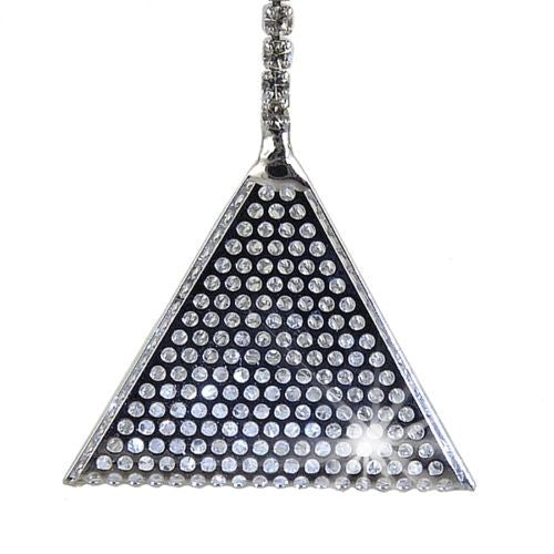 Nanni Silver Plated Free Floating Crystal Filled Pyramid Drop Earrings - ILoveThatGift