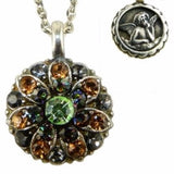 Mariana Guardian Angel Crystal Pendant Silver Necklace 3401 Green Topaz Black - ILoveThatGift