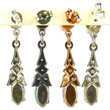 Amaro P265 Post Earrings Dangle Swarovski Crystals on Rose Gold or Silver - ILoveThatGift