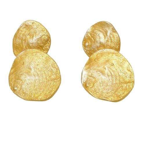 Petite La Mer 24 kt Gold Post Sea Shell Earrings by Michael Michaud 3215 - ILoveThatGift