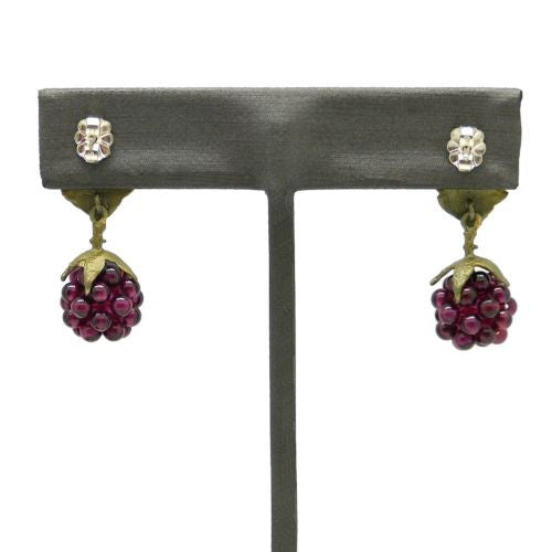 Raspberry Garnet Post Earrings by Michael Michaud 4089 - ILoveThatGift