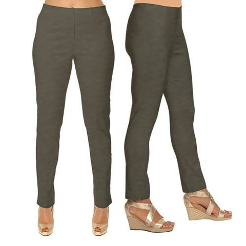 Lior Paris Bronze Tapered Leg Stretch Pull On Sasha Pants Size 2-16