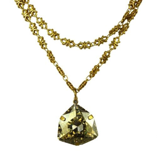 La Vie Parisienne Gold Convertible Triangle Crystal Necklace 1452G Popesco - ILoveThatGift