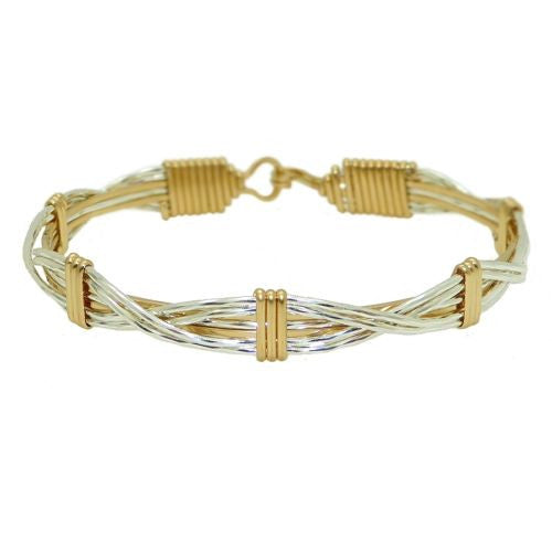 Ronaldo Sands of Time 325 Bracelet Silver Mirror Effect with Gold Wraps - ILoveThatGift