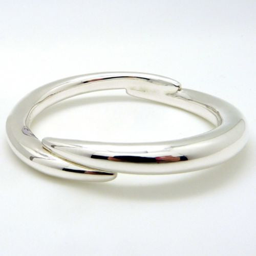 Simon Sebbag Swirl Sterling Silver 925 Bracelet B1336 Overlapping Bangle - ILoveThatGift