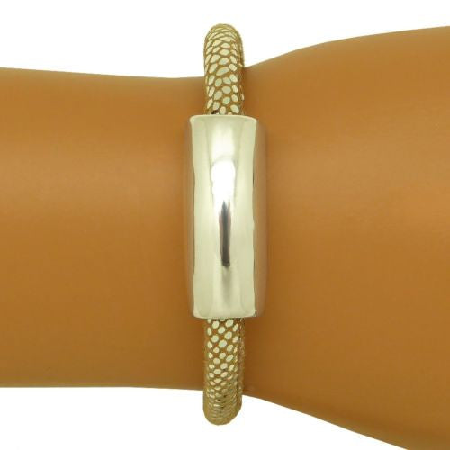 Simon Sebbag Sterling Silver 925 Bead Bracelet Sueded Pearl Leather 230P - ILoveThatGift